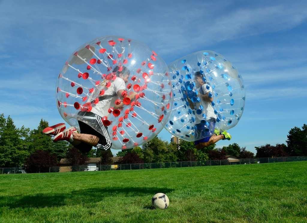 Різновиди футболу: бампербол