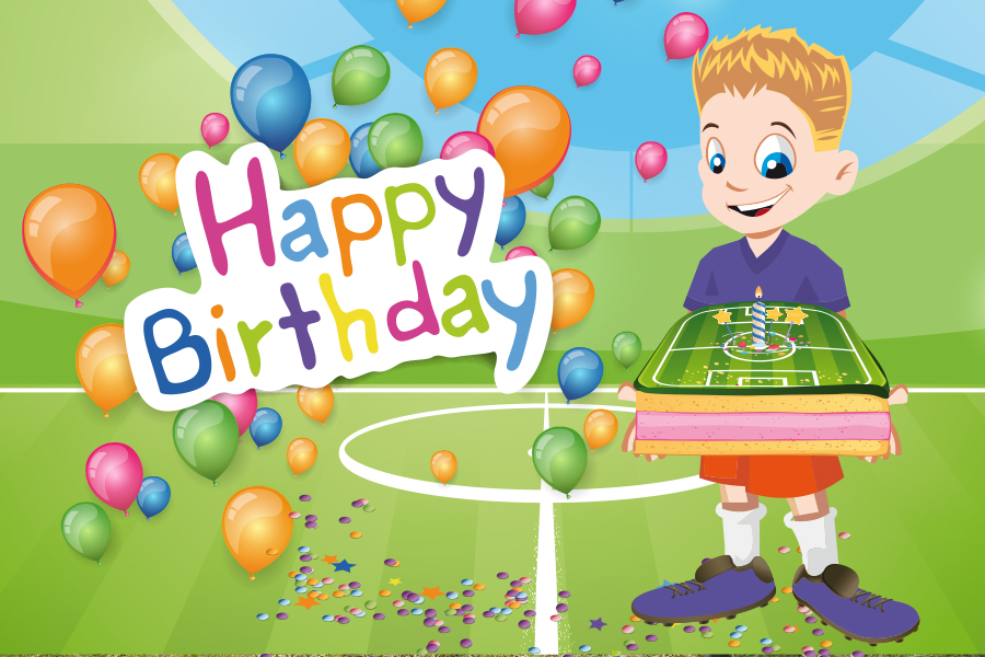 Футбик и Мастер мяча поздравляют Евгения с Днем Рождения!