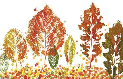 Малювання за допомогою листя