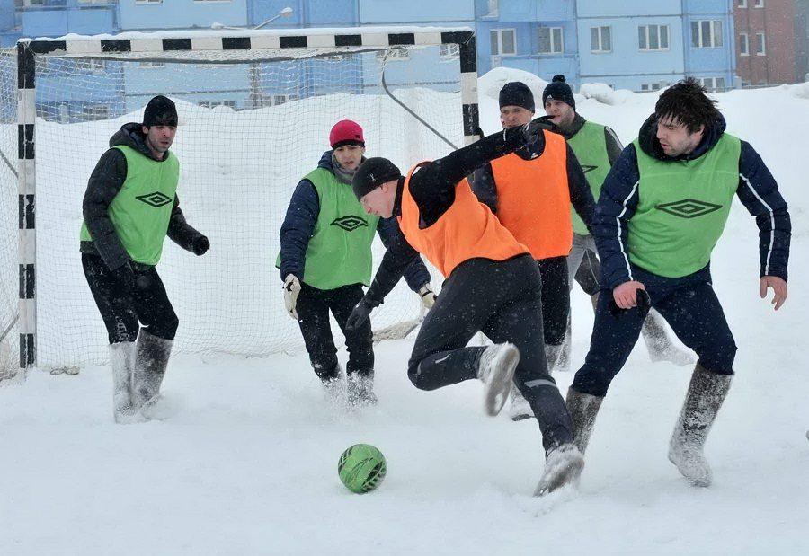 Футбол в валенках
